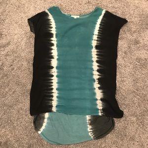 Hem and Thread Tie Dye Tunic